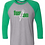Thumbnail: Next Level - Unisex Tri-Blend 3/4 Sleeve Baseball Raglan Tee - 6051