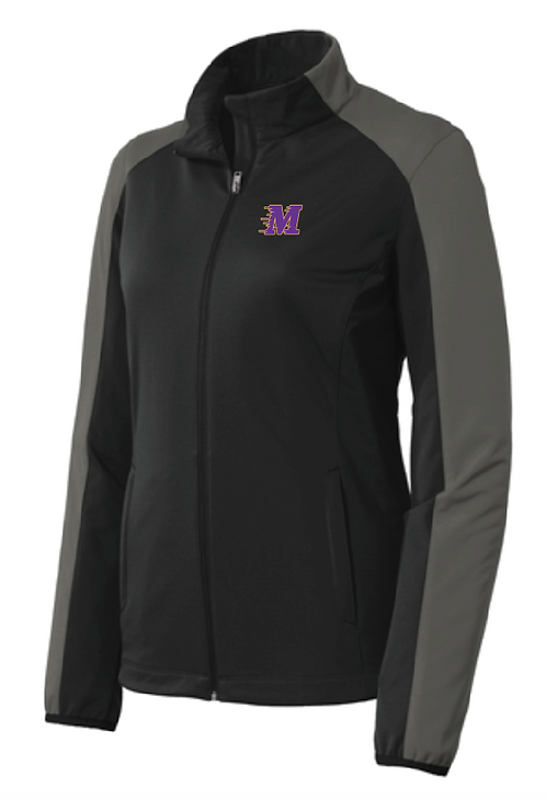 Port Authority® Ladies Active Soft Shell Jacket • L718 • deep black/grey steel