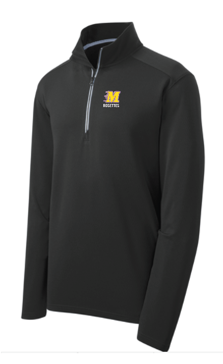 Sport-Tek® Sport-Wick® Textured 1/4-Zip Pullover • ST860 • black