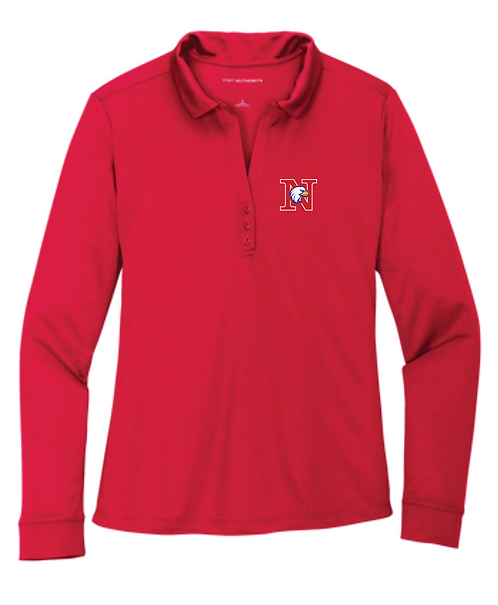 Port Authority ® Ladies Silk Touch™ Performance Long Sleeve Polo • L540LS