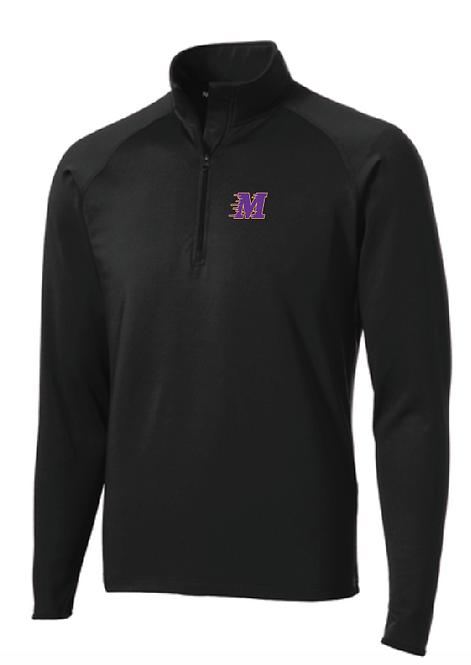Sport-Tek® Sport-Wick® Stretch 1/2-Zip Pullover • ST850 • black