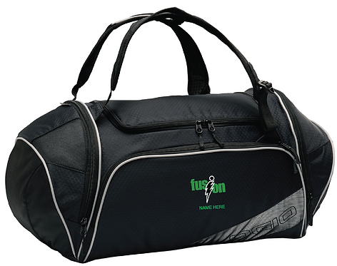 OGIO® 4.5 Duffel • Black/silver • 412037 • WITH NAME