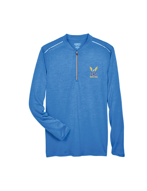 CE401 mens performance quarter zip / Tru Royal - Carbon