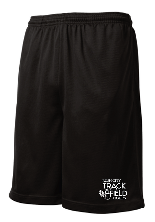Sport-Tek® PosiCharge® Tough Mesh Pocket Short • ST312 • black