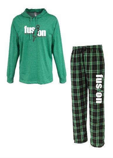 Loungewear Set • FLNP • 7601 • Kelly - Kelly/black