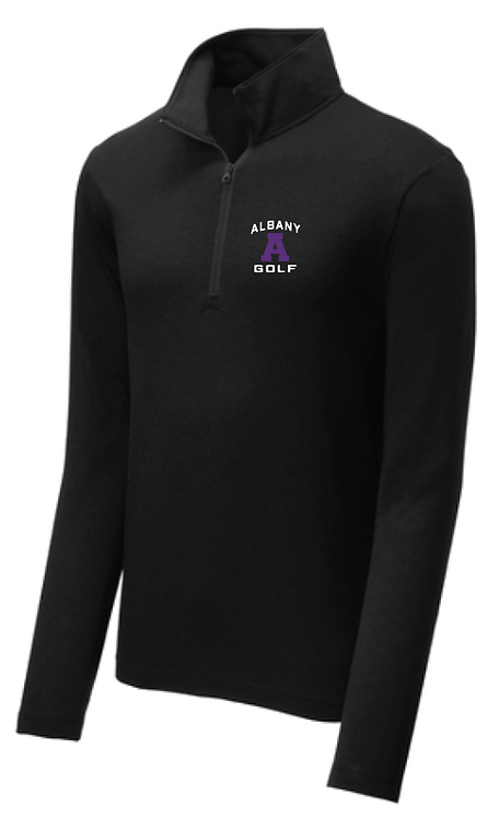 Sport-Tek ® PosiCharge ® 1/4-Zip Pullover • Black Triad Solid • ST407