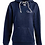Thumbnail: J. America - Women's Shore French Terry Sport Lace Scuba Hooded Pullover - 8694