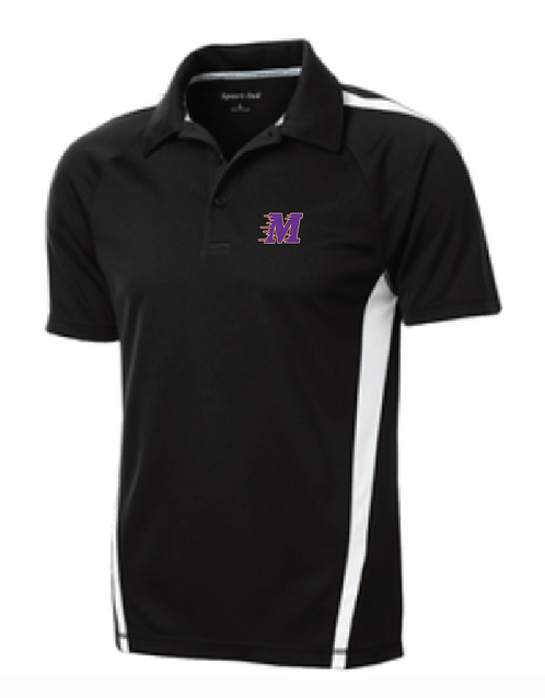 Sport-Tek® PosiCharge® Micro-Mesh Colorblock Polo • ST685 •black/white