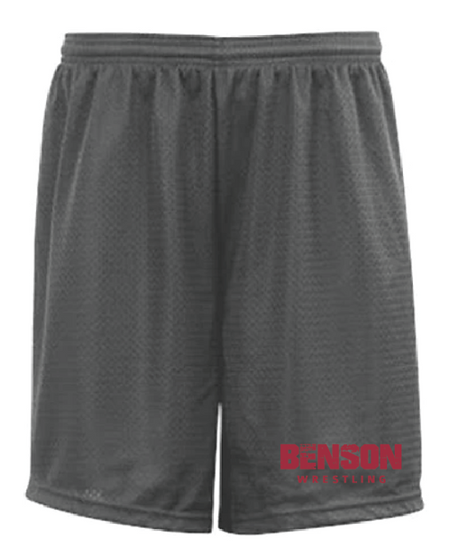BW A4 Adult Nine Inch Inseam Mesh Short • N5296 • graphite