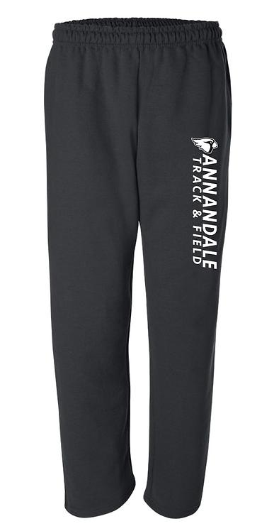 Gildan - DryBlend Open Bottom Pocketed Sweatpants - 12300 • black