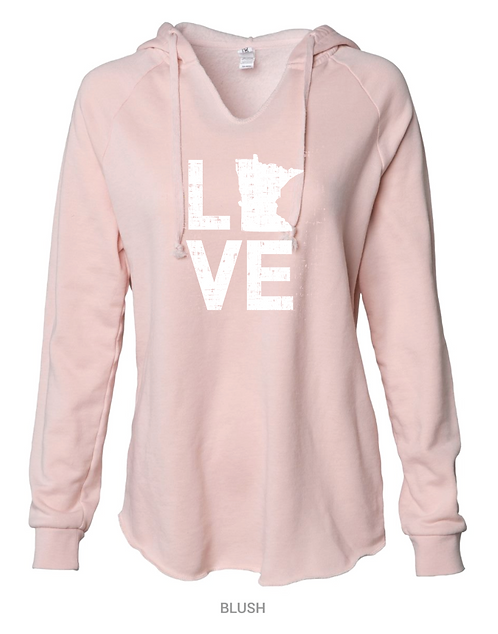 Independent Trading Co. - Women's Lightweight Cali. Hooded Sweatshirt PRM2500