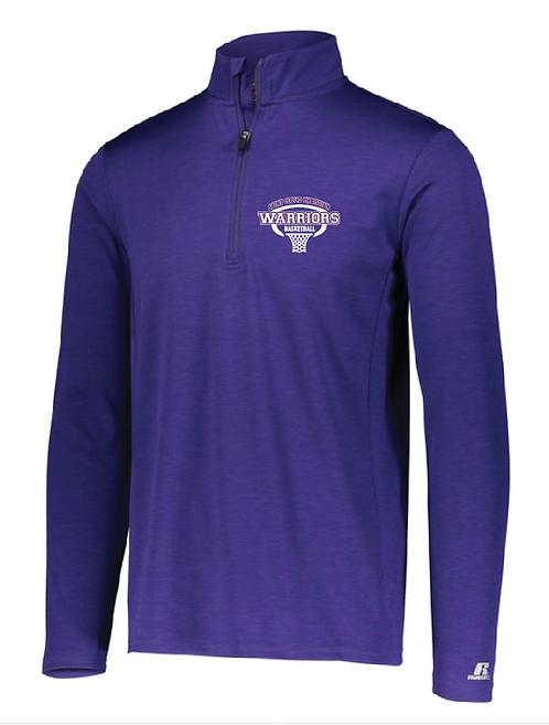 Russell Athletic - Striated Quarter-Zip Pullover - QZ7EAM • Purple