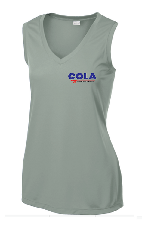 Sport-Tek® Ladies Sleeveless PosiCharge® Competitor™ V-Neck Tee • LST352