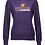 Thumbnail: J. America - Women's Zen Fleece Hooded Sweatshirt - 8912 •twist plum