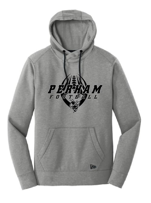New Era® Tri-Blend Fleece Pullover Hoodie • NEA510 • shadow grey heather