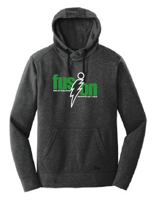 New Era® Tri-Blend Fleece Pullover Hoodie • NEA510 • Black Heather