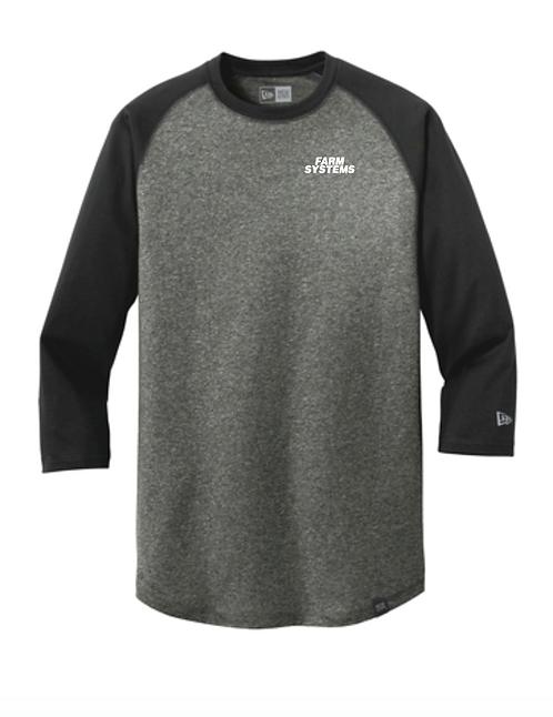 New Era® Heritage Blend 3/4-Sleeve Baseball Raglan Tee • NEA104