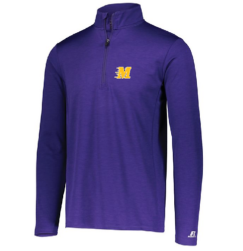 Dri-Power Lightweight 1/4 Zip Pullover • QZ 7EAM • Purple