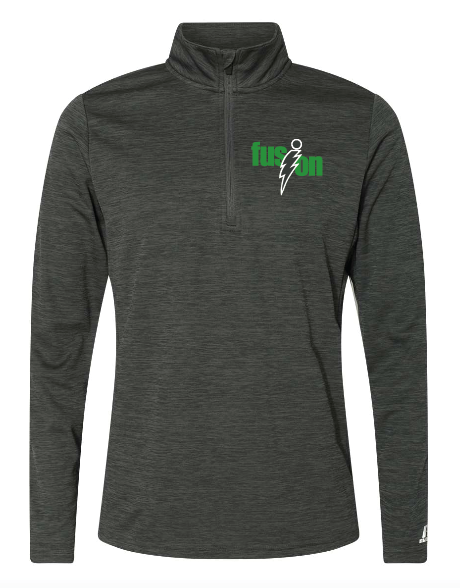 Russell Athletic - Striated Quarter-Zip Pullover - QZ7EAM • Stealth
