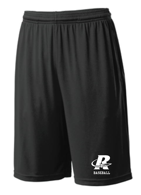 Sport-Tek® PosiCharge® Competitor™ Pocketed Short • ST355P • black