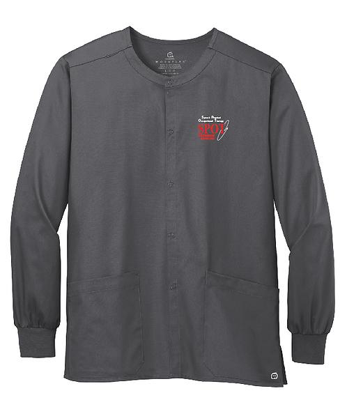 WW3080 WonderWink® Unisex WorkFlex™ Snap-Front Scrub Jacket