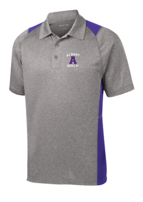 Sport-Tek® Heather Colorblock Polo • Vintage Heather/Purple • ST665