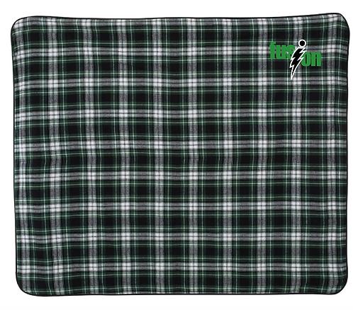 Boxercraft - Flannel Blanket - FB250 • green/white/black