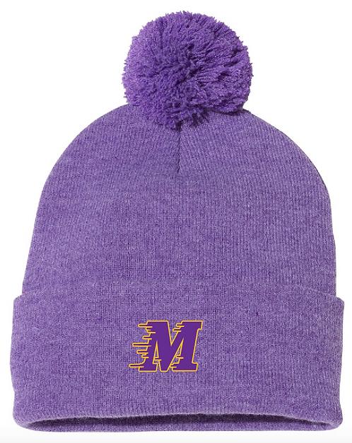 """Sportsman - Pom-Pom 12"""" Knit Beanie • SP15 • purple heather"""