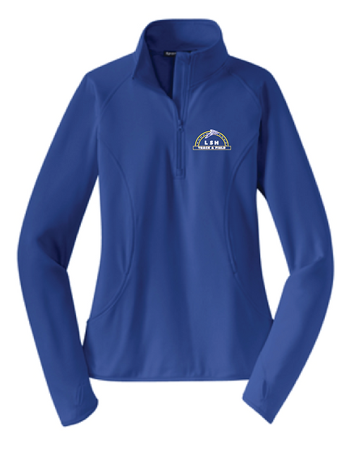 Sport-Tek® Ladies Sport-Wick® Stretch 1/2-Zip Pullover • LST850 • royal