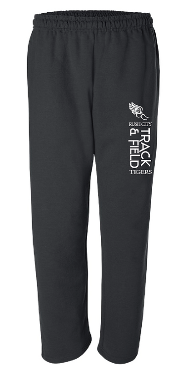 Gildan - DryBlend Open Bottom Pocketed Sweatpants - 12300 • black