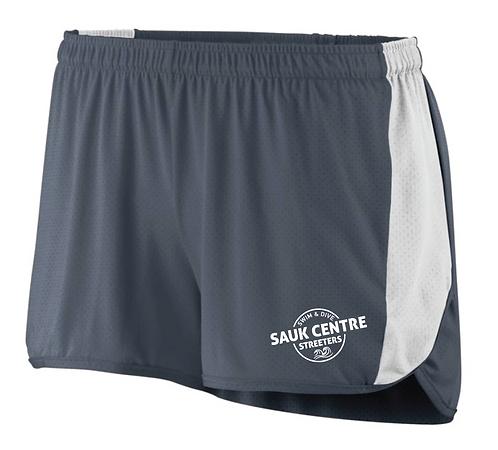 LADIES SPRINT SHORTS-grey/white shorts-337