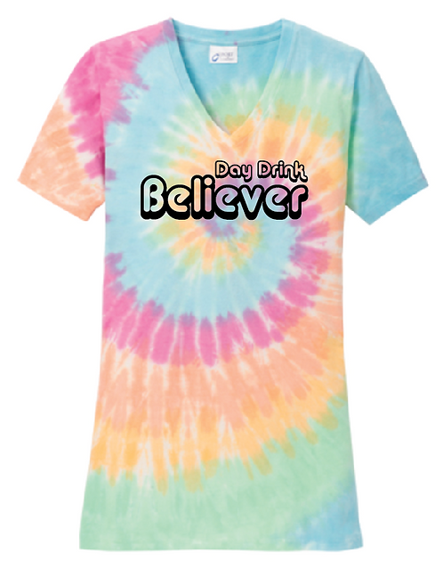 Ladies Tie-Dye V-Neck Tee LPC147V