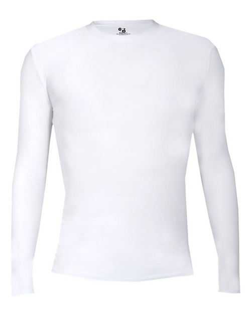 AG Badger - Pro-Compression Long Sleeve T-Shirt - 4605 •white