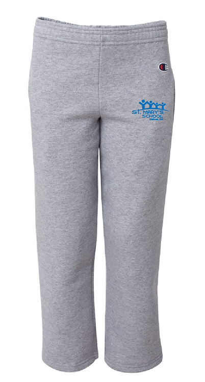 Champion - Double Dry Eco Youth Open Bottom Sweatpants with Pockets