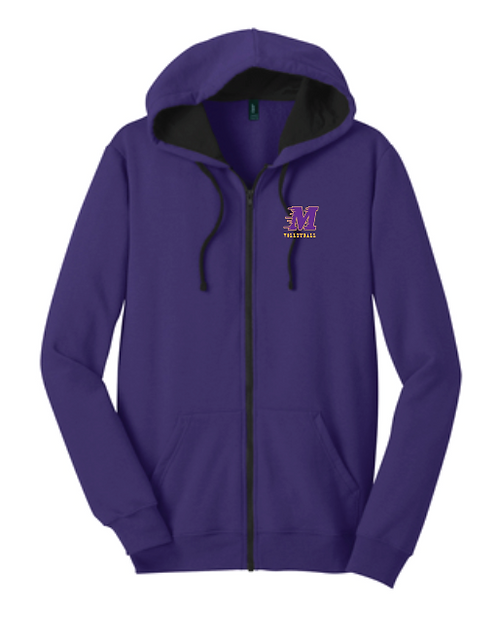 District ® The Concert Fleece ® Full-Zip Hoodie • DT800 • Purple