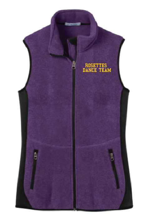 Port Authority® Ladies R-Tek® Pro Fleece Full-Zip Vest •L228 •purple heather