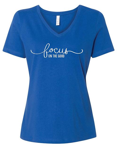 Bella + Canvas - Women's Relaxed Jersey Short Sleeve V-Neck T-Shirt - 6405