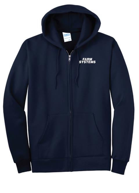 Port & Company® Tall Essential Fleece Full-Zip Hooded Sweatshirt •PC90ZHT