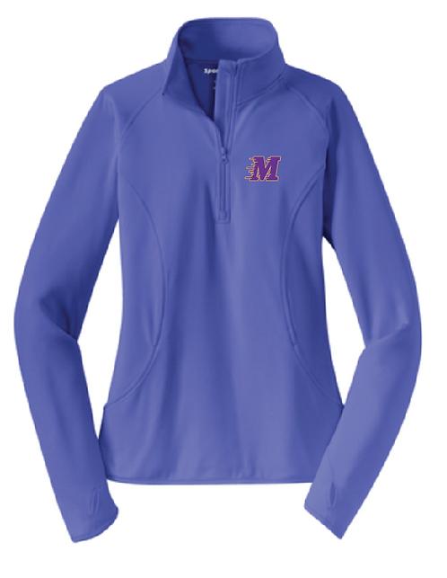 Sport-Tek® Ladies Sport-Wick® Stretch 1/2-Zip Pullover • LST850 • iris purple