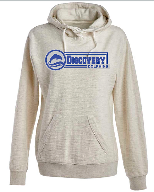 J. America - Women's Shore French Terry Sport Lace Scuba Hooded Pullover • 8694