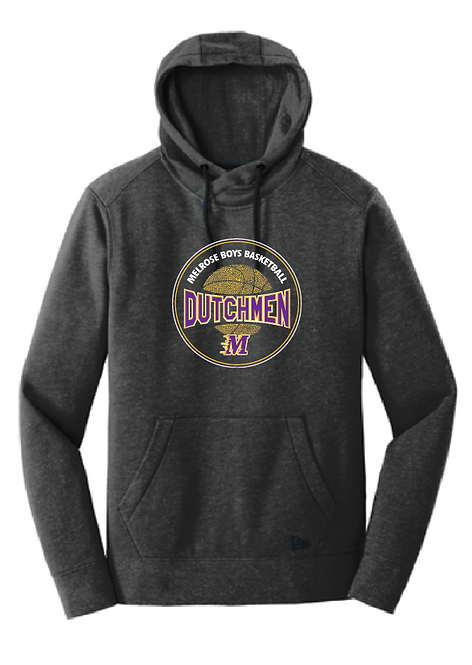 New Era® Tri-Blend Fleece Pullover Hoodie • NEA510 • black heather