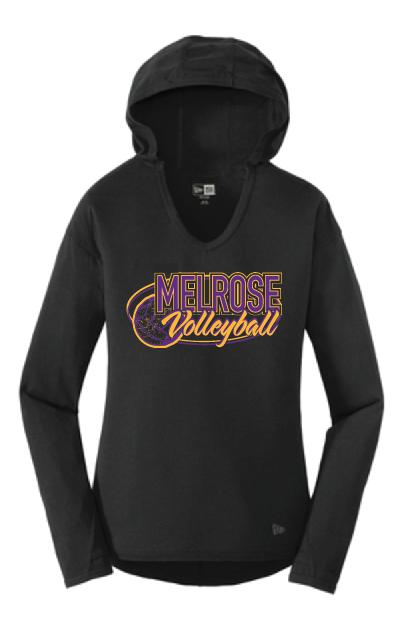 New Era® Ladies Tri-Blend Performance Pullover Hoodie Tee LNEA131 • black