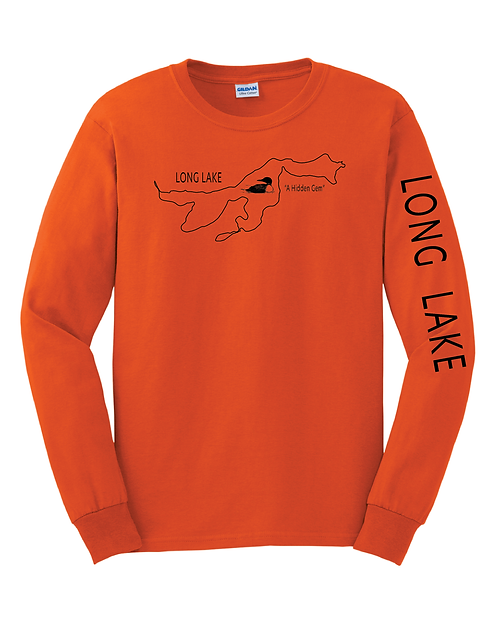 G2400 Gildan® - Ultra Cotton® 100% Cotton Long Sleeve T-Shirt - Long Lake
