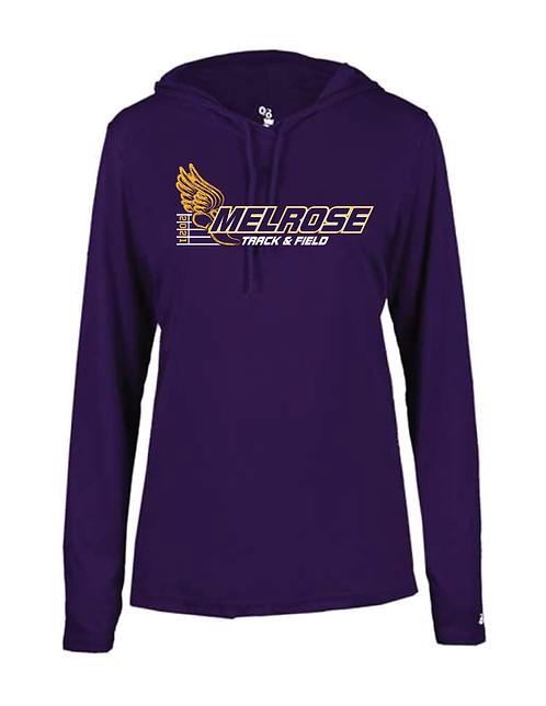 Badger - Women's B-Core Long Sleeve Hooded T-Shirt - 4165