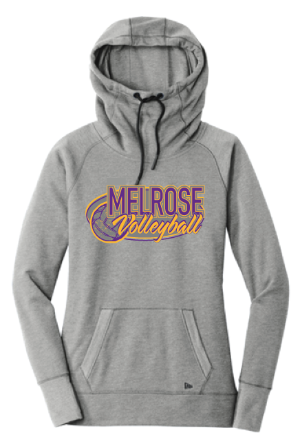 New Era® Ladies Tri-Blend Fleece Pullover Hoodie LNEA510• shadow grey heather