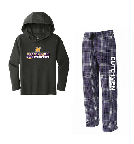 Youth Loungewear Set • YFLNP • DT139Y • Purple - Purple/white