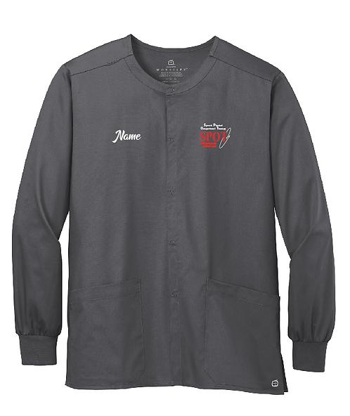 WW3080 (W/ Embroidered Name)WonderWink® Unisex WorkFlex™ Snap-Front Scrub Jacket