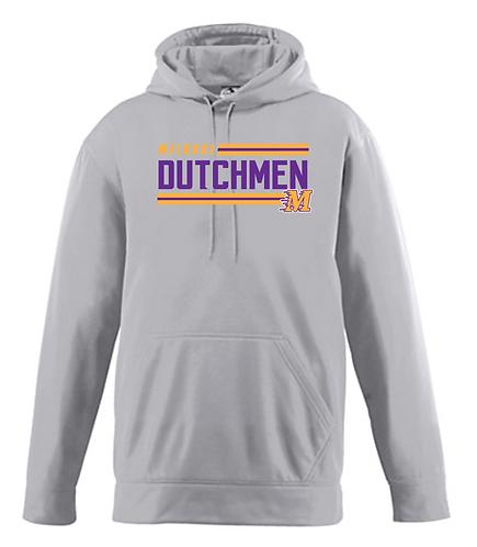 Augusta Youth Wicking Fleece Hooded Sweatshirt-5506 • Athletic grey