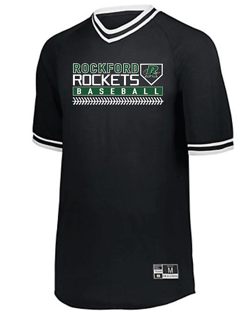 Holloway Retro V-Neck Baseball Jersey • 221021 • black/white