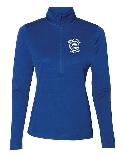 Russell Athletic - Women's Striated Quarter-Zip Pullover - QZ7EAX • Royal